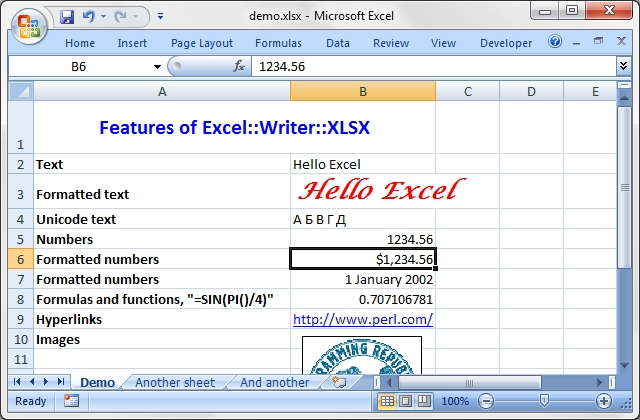 sample excel projects